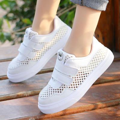 新款夏季兒童鞋女童運動鞋男童休閑透氣網鞋春秋學生韓版板鞋網布 諾妮夢