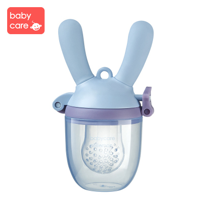 babycare嬰兒水果食物咬咬袋 果蔬樂 寶寶吃輔食器硅膠牙膠磨牙棒 咬咬樂 冰川藍 1302