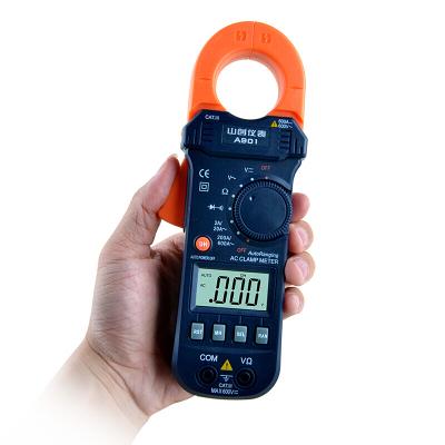 A901交流鉗形表 鉗形數字萬用表帶保護功能 鉗表鉗形電流表 深藍色