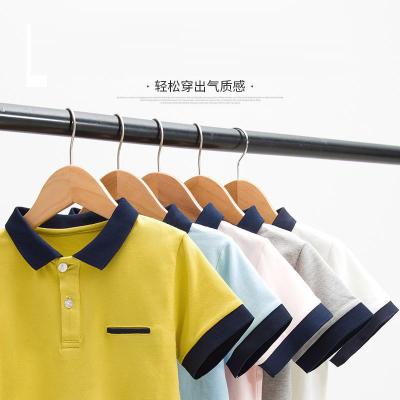 童裝兒童polo衫夏季男童短袖T恤韓版純棉翻領中大童打底衫上衣潮 莎丞