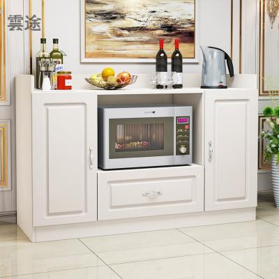 北歐餐邊柜客廳柜子儲物柜多功能酒柜簡約現代茶水柜經濟型餐廳柜定制 歐式單抽3門32深-白色 雙門