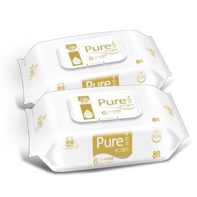潔云 濕巾 純水手口濕巾 80片2包組合裝
