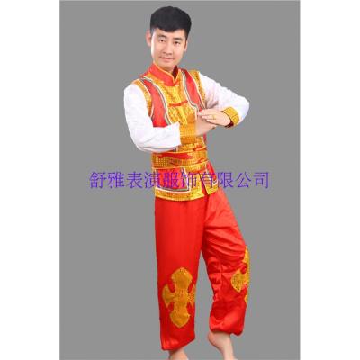 新款打鼓服秧歌服裝民族男女裝舞蹈演出服裝舞龍舞獅腰鼓隊武術服