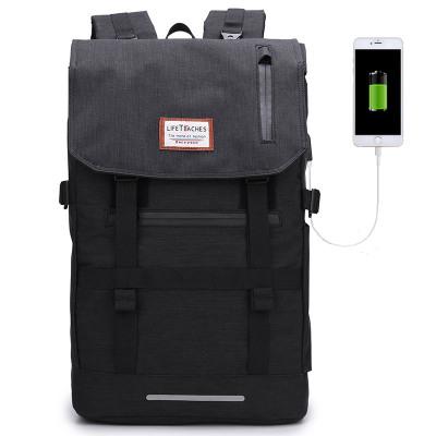 笛子 電腦包15.6英寸 雙肩背包大容量旅行包健身包 高中大學生通用背包書包尼龍防水雙肩包男 筆記本數碼包 556