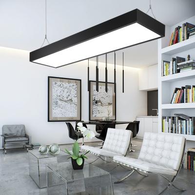 办公室工程照明吊灯led平板吊线吧台长条灯形吸顶简约时尚型商场 圆角120cm*20cm 白色 48W