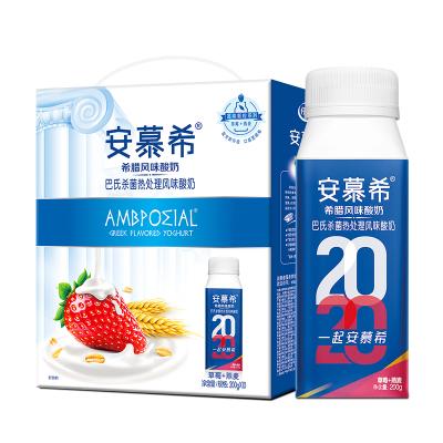 伊利安慕希草莓燕麥希臘風味酸奶200g*10