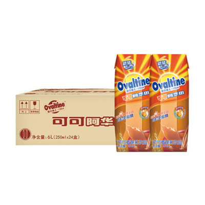 阿华田麦芽乳饮品可可味250mL*24入