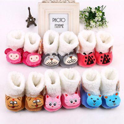 童趣熊 嬰兒棉鞋寶寶棉鞋 毛絨鞋 嬰兒保暖棉鞋 寶寶鞋 冬季
