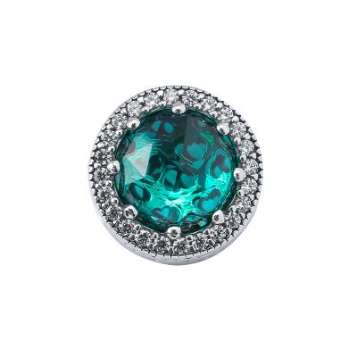 PANDORA潘多拉 綠色閃亮的心 925銀 女士串飾-791725NSG