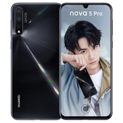【二手9成新】華為nova5 Pro 亮黑 8GB+128GB 全網通安卓 6.39英寸屏 雙卡雙待 移動聯通電信手機