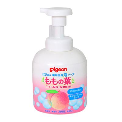 贝亲(PIGEON)婴儿桃子水精华泡沫洗发沐浴二合一450ml