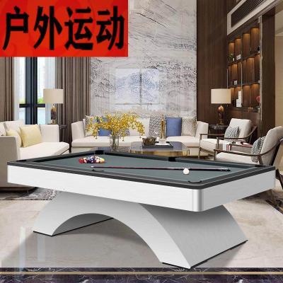 蘇寧好店臺球桌標準家用健身器材拱橋現代個性化黑8九球桌球案3468新款