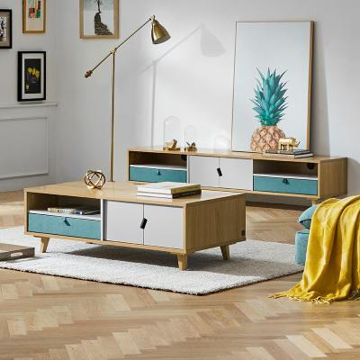 顧家家居KUKA 現代簡約北歐茶幾電視柜客廳組合家具PTBY016