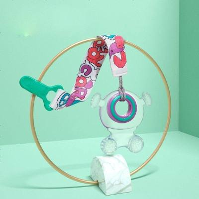 babycare嬰兒牙膠 磨牙棒可水煮硅膠帶收納盒防吃手兒童咬咬膠蜻蜓牙膠
