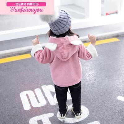女宝宝冬装外套1-2-3-4岁5韩版秋冬季加绒加厚可爱公主洋气童装潮