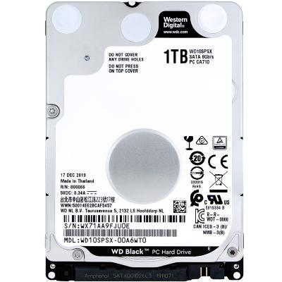 西部數據(WD)7200轉 黑盤1T 筆記本硬盤機械硬盤 7MM厚度 WD10SPSX 1TB 128M緩存 游戲硬盤