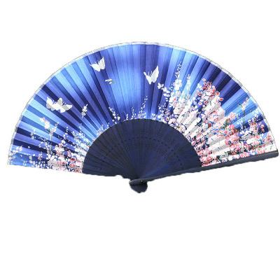 折扇中国风女式古风扇子舞蹈汉服小流苏复古典折叠扇-疏影