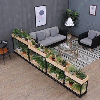 欧式实木落地花架子多层室内特价铁艺阳台客厅餐厅隔断花架置物架