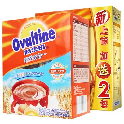 阿华田Ovaltine 办公室营养早餐组合可可粉配黄金大麦随身包早餐组合360g+180g