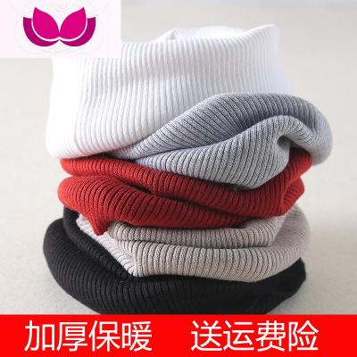 七斕秋冬季男女羊毛假領子高領套頭防加厚保暖中老年圍巾圍脖套護頸椎