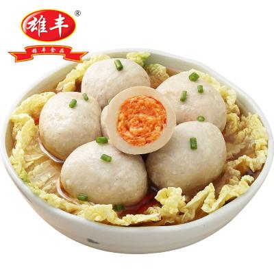 雄豐丸子 金沙貢丸 500g包裝小吃打火鍋麻辣燙關東煮肉丸子食材