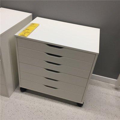 国内阿来斯抽屉柜带脚轮储物柜6抽屉柜文件档案柜斗柜