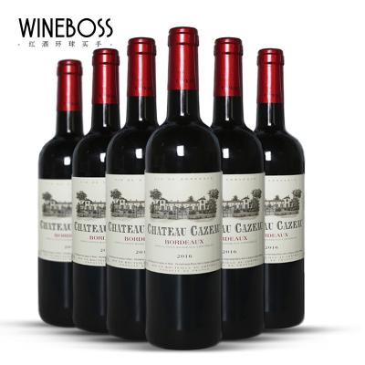 WINEBOSS 法国原瓶原装进口 波尔多红酒aoc干红葡萄酒城堡级 卡卓城堡