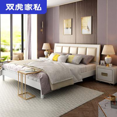 雙虎家私 1.8m床 主臥現代簡約經濟型雙人床1.5m板式軟包床15B2