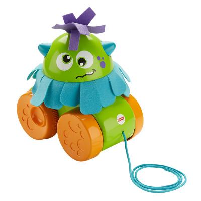 费雪(Fisher-Price)早教益智玩具 小怪兽学步拖拖乐 GDR71