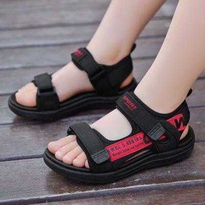 企順意春夏季兒童涼鞋男童鞋中大童學生沙灘鞋軟底魔術貼防滑露趾寶寶兒童鞋子