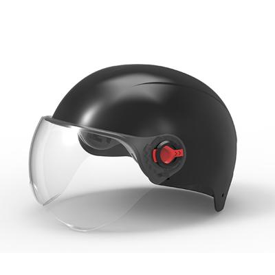 邁古(MG夏季電動車頭盔安全帽男女輕便式個性頭盔【默認發黑色】【其他可留言備注紅色】【擋風鏡茶色透明隨機發貨】