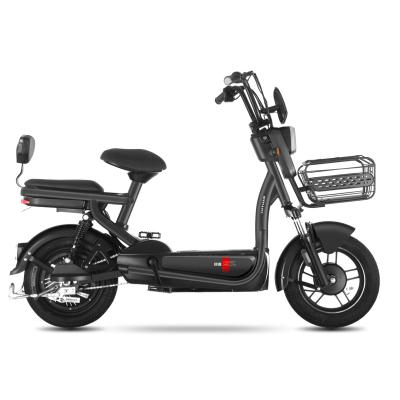 綠源(LUYUAN)電動車新款48v20a鋰電池長續航電瓶車FEA男女代步電動自行車 高啞黑
