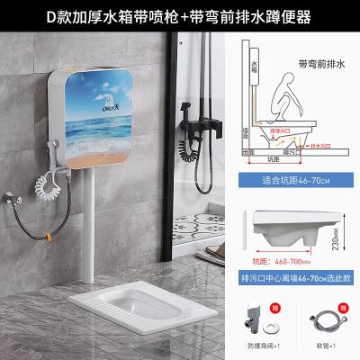 王品牌專賣陶瓷蹲便器沖水箱套裝衛生間蹲坑式便池廁所臭