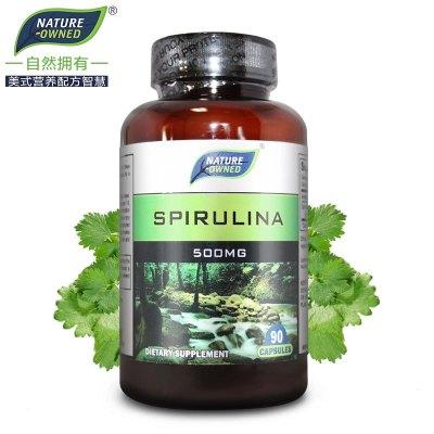 【買1送1】NATURE-OWNED自然擁有 螺旋藻膠囊 美國進口中老年人保健品保護腸胃 軟膠囊瓶裝