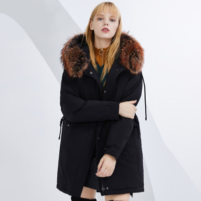 BOSIDENG брэндийн өвлийн эмэгтэй зузаан куртка B80141130 175/96A хар8056
