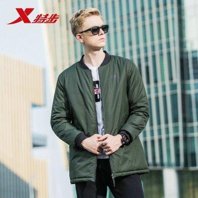 特步(Xtep)男子外套冬季新品休閑外套超輕男運動輕薄棉衣