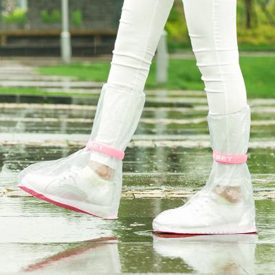 透明高筒雨靴套男女防滑水鞋 成人戶外加厚耐磨防水雨鞋套