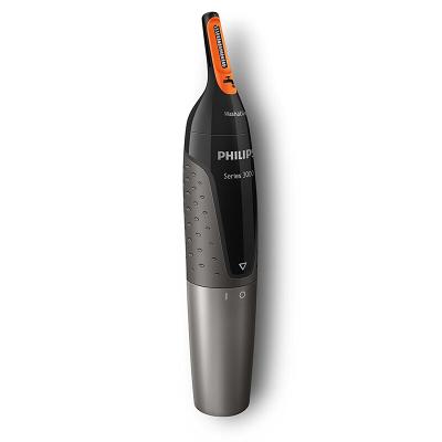飞利浦(Philips) NT3160 鼻毛修剪器 修眉器 干湿两用 全身水洗 不锈钢刀片 干电式