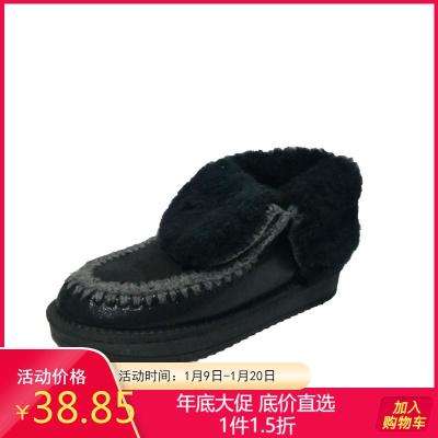 达芙妮旗下鞋柜品牌 冬休闲雪地靴加厚保暖百搭网红学院女短靴