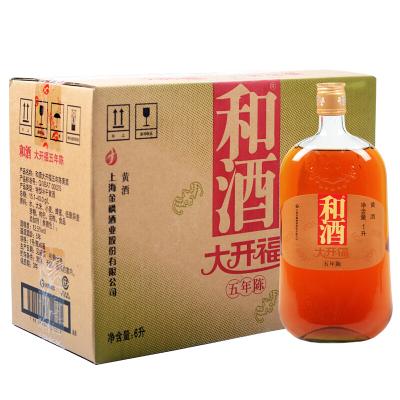 [和酒旗艦店] 和酒 黃酒 上海老酒 大開福五年陳釀 1000ml*6瓶裝 整箱