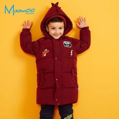 【2件2.5折價:149.8】moomoo童裝男幼童羽絨服新款冬裝小寶寶中長款白鴨絨外套