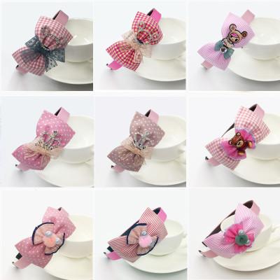 兒童蝴蝶結箍韓國小孩子帶齒防滑頭箍公主女童中大童卡女飾