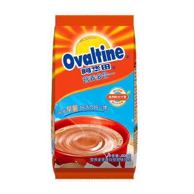 阿华田(Ovaltine)可可粉 蛋白型固体饮料 袋装400g