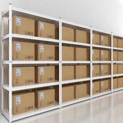 富路達 貨架倉儲家用置物架儲物收納金屬架白色