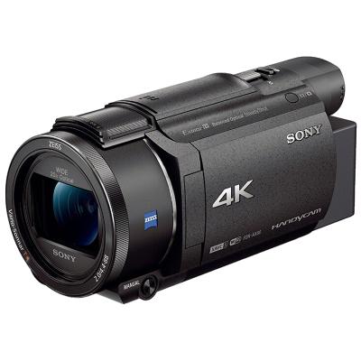 索尼(SONY) FDR-AX60+64G存储卡+摄像机包+电池+座充+三脚架 配件套装 数码摄像机 4K摄像 小巧轻便