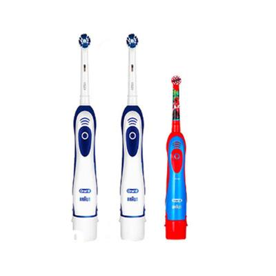 博朗 歐樂B DB4010 成人干電式電動牙刷2支 & 歐樂B DB4510k 兒童電動牙刷 汽車總動員/白雪公主隨機發
