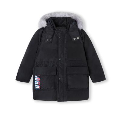 【1件5折】巴拉巴拉童装男童羽绒服儿童外套宝宝冬装加厚连帽外套中长款毛领