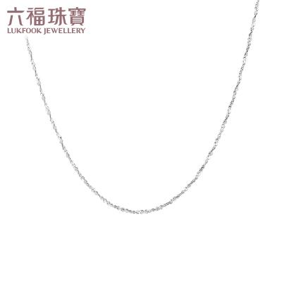 六福珠宝Pt950铂金项链女白金满天星项链计价 A03TBPN0005
