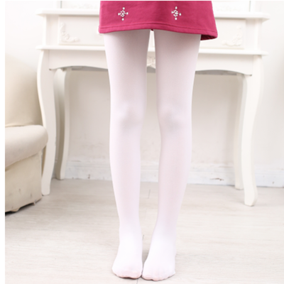 儿童连裤袜女童丝袜春秋薄款夏季宝宝打底裤连体白色舞蹈袜子练功 臻涩