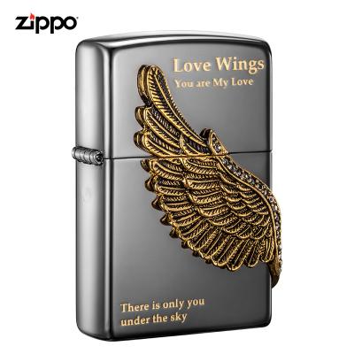 zippo之宝打火机原装ZIPPO煤油打火机爱情之翼ZBT-1-16a